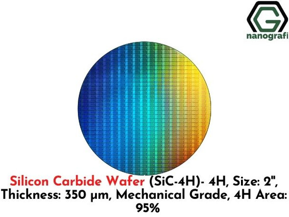 Silicon Carbide Wafer (SiC-4H)- 4H, Size: 2'', Thickness: 350 μm, Mechanical Grade, 4H Area: 95%