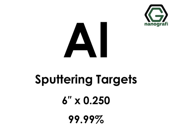 Aluminum (Al) Sputtering Targets, Size:6'' ,Thickness: 0.250'' , Purity: 99.99%