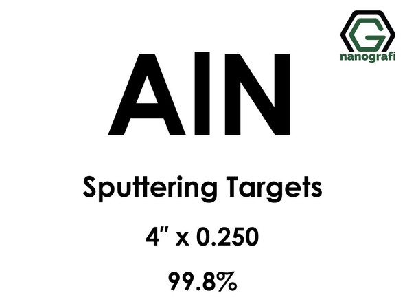 Aluminum Nitride (AlN) Sputtering Targets, Size:4'' ,Thickness: 0.250'' , Purity: 99.8% Your Price: