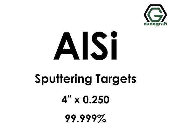 Aluminum Silicon (AlSi) Sputtering Targets, Size:4'' ,Thickness: 0.250'' , Purity: 99.999%
