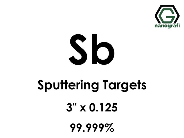 Antimony (Sb) Sputtering Targets, Size:3'' ,Thickness: 0.125'' , Purity: 99.999%