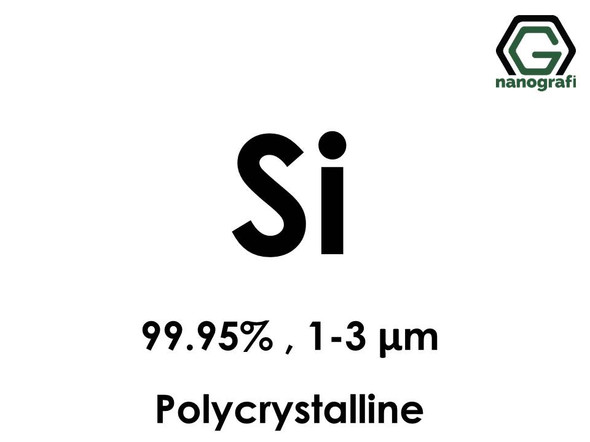 Silicon (Si) Micron Powder, Purity: 99.95%, Size: 1-3 um, Polycrystalline- NG04EO1801