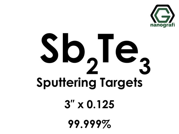 Antimony Telluride (Sb2Te3) Sputtering Targets, Size:3'' ,Thickness: 0.125'' , Purity: 99.99%