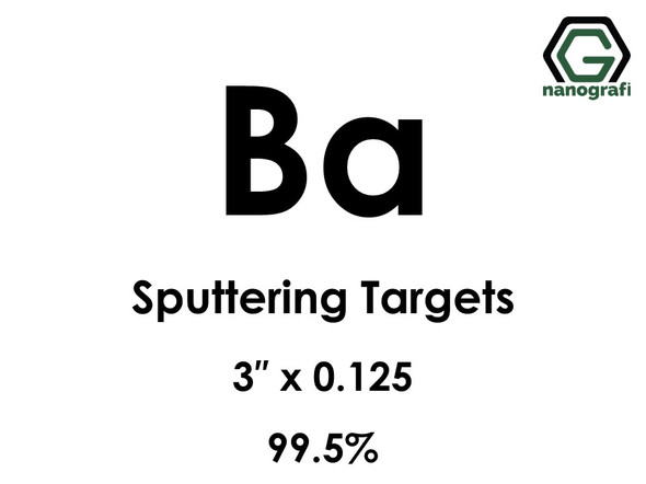 Barium (Ba) Sputtering Targets, Size:3'' ,Thickness: 0.125'' , Purity: 99.5%