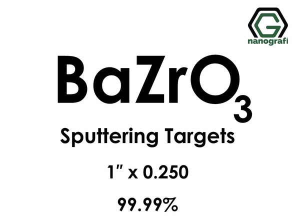 Barium Zirconate (BaZrO3) Sputtering Targets, Size:1'' ,Thickness: 0.250'' , Purity: 99.99%