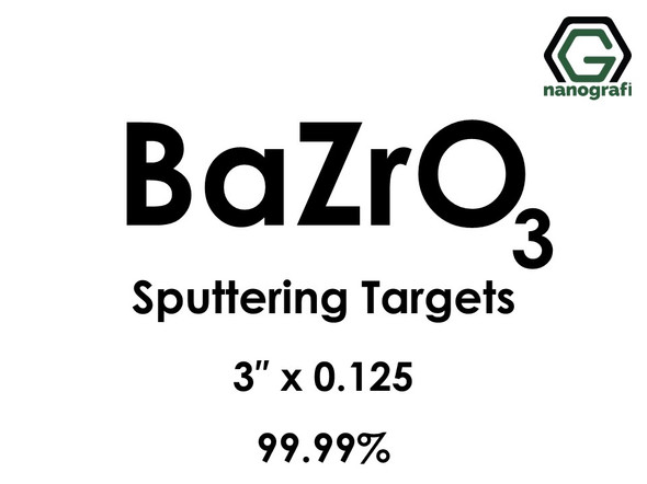 Barium Zirconate (BaZrO3) Sputtering Targets, Size:3'' ,Thickness: 0.125'' , Purity: 99.99%