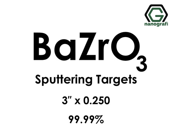 Barium Zirconate (BaZrO3) Sputtering Targets, Size:3'' ,Thickness: 0.250'' , Purity: 99.99%