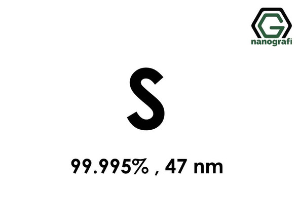 S(Sulphur) 47nm, high purity 99.995%