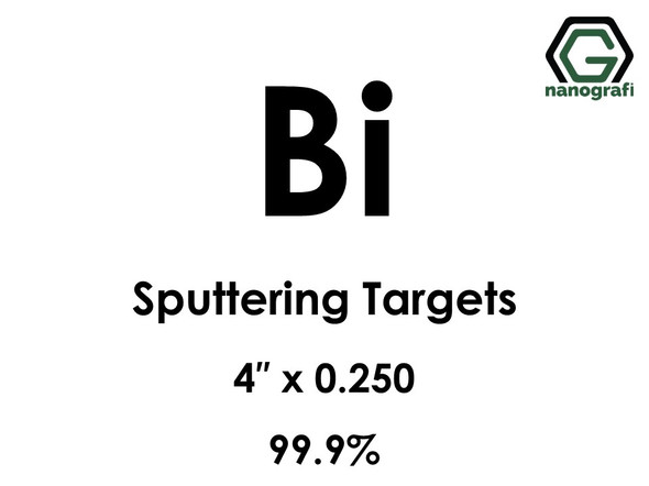 Bismuth (Bi) Sputtering Targets, Size:4'' ,Thickness: 0.250'' , Purity: 99.9%