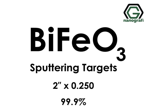 Bismuth Ferrite (BiFeO3) Sputtering Targets, Purity: 99.9%, Size: 2'', Thickness: 0.250''