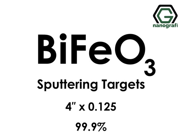 Bismuth Ferrite (BiFeO3) Sputtering Targets, Purity: 99.9%, Size: 4'', Thickness: 0.125''