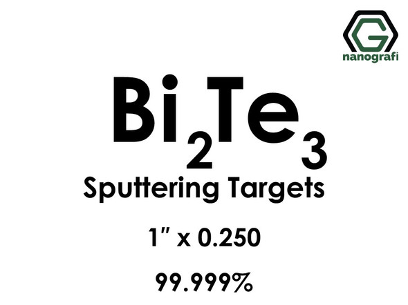 Bismuth Telluride (Bi2Te3) Sputtering Targets, Size:1'' ,Thickness:0.250'' , Purity: 99.999%