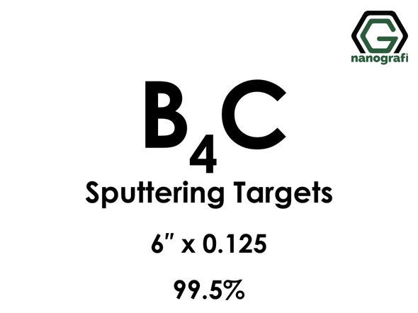 Boron Carbide (B4C) Sputtering Targets, Size:6'' ,Thickness:0.125'' , Purity: 99.5%
