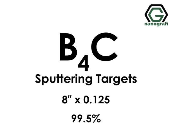 Boron Carbide (B4C) Sputtering Targets, Purity: 99.5%, Size: 8'', Thickness: 0.125''