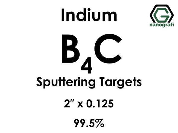 Boron Carbide(indium)(B4C) Sputtering Targets, Size:2'' ,Thickness:0.125'' , Purity: 99.5%