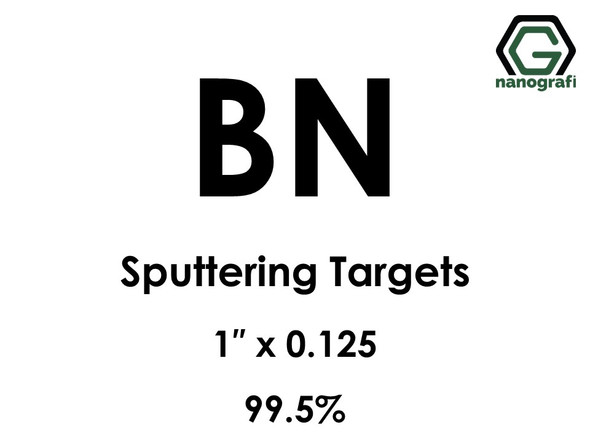 Boron Nitride (BN) Sputtering Targets, Size:1'' ,Thickness:0.125'' , Purity: 99.5%