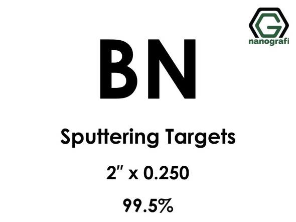 Boron Nitride (BN) Sputtering Targets, Size:2'' ,Thickness:0.250'' , Purity: 99.5%