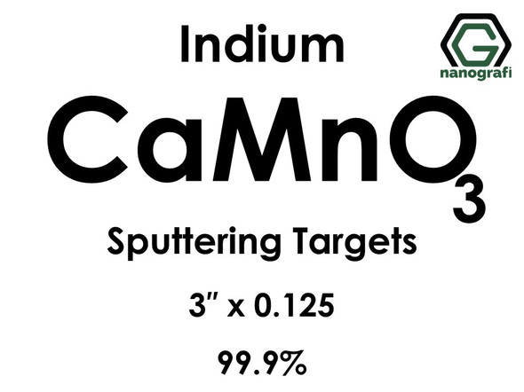 Calcium Manganate (indium) (Ca(MnO4)2) Sputtering Targets, Size:3'' ,Thickness:0.125'' , Purity: 99.9%