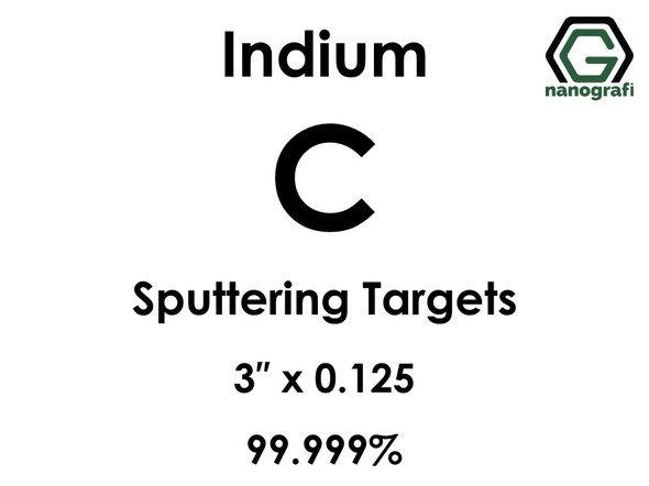 Carbon (indium)(C) Sputtering Targets, Size:3'' ,Thickness:0.125'' , Purity: 99.999%