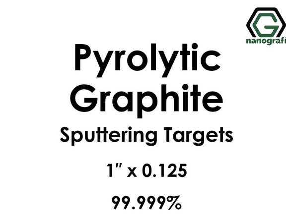 Carbon (Pyrolytic Graphite)(C) Sputtering Targets, Size:1'' ,Thickness:0.125'' , Purity: 99.999%