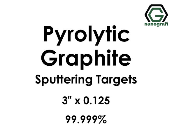 Carbon (Pyrolytic Graphite)(C) Sputtering Targets, Size:3'' ,Thickness:0.125'' , Purity: 99.999%