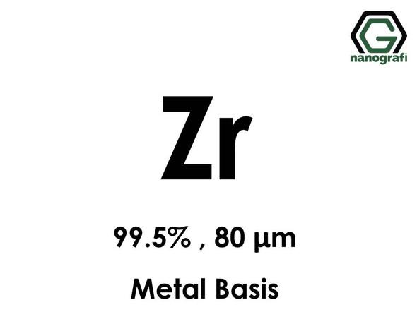 Zirconium (Zr) Micron Powder, Purity: 99.5%, Size: 80 µm, Metal Basis- NG04EO2501