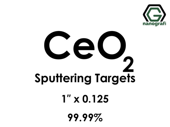 Cerium Oxide (CeO2) Sputtering Targets, Size:1'' ,Thickness:0.125'' , Purity: 99.99%