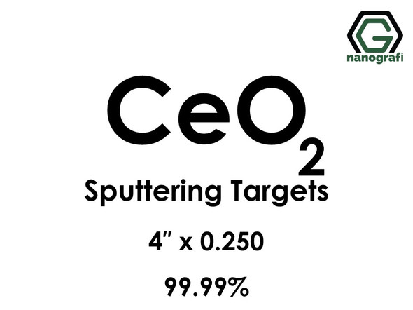 Cerium Oxide (CeO2) Sputtering Targets, Size:4'' ,Thickness:0.250'' , Purity: 99.99%