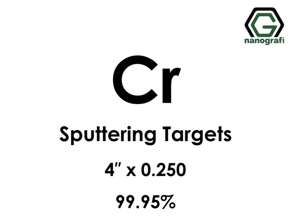 Chromium (Cr) Sputtering Targets, Purity: 99.95%, Size: 4'', Thickness: 0.250''