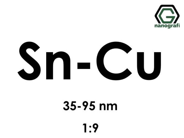 Copper Tin (Cu-Sn) Alloy Nanopowder/Nanoparticles, Size: 35-95 nm, Sn:Cu/1:9- NG04EO2702