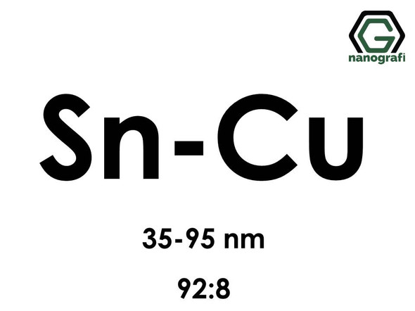 Copper Tin (Cu-Sn) Alloy Nanopowder/Nanoparticles, Size:  35-95 nm, Sn:Cu/92:8- NG04EO2703