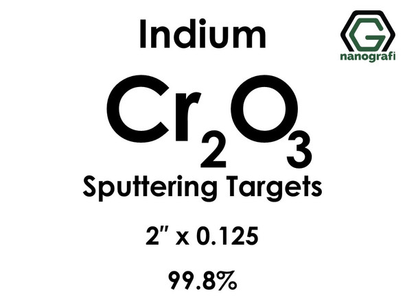 Chromium Oxide (indium)(Cr2O3) Sputtering Targets, Size:2'' ,Thickness:0.125'' , Purity: 99.8%
