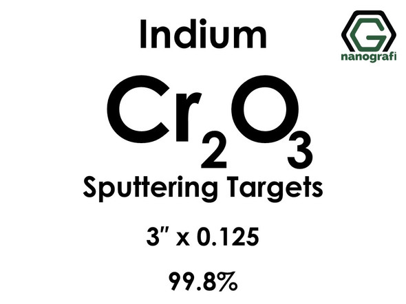 Chromium Oxide (indium)(Cr2O3) Sputtering Targets, Size:3'' ,Thickness:0.125'' , Purity: 99.8%