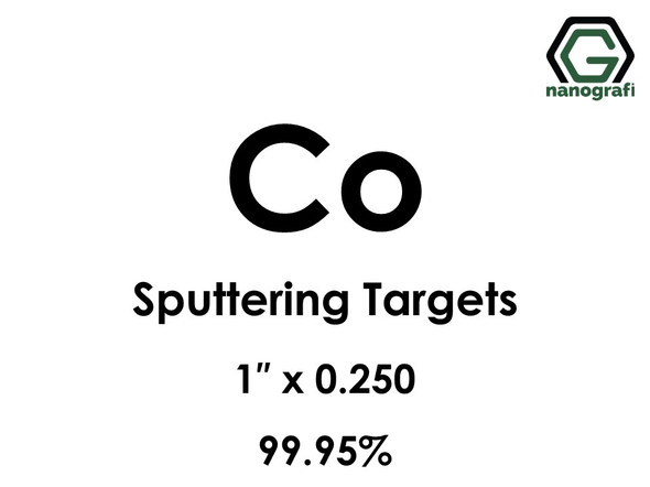 Cobalt (Co) Sputtering Targets, Size:1'' ,Thickness:0.250'' , Purity: 99.95%