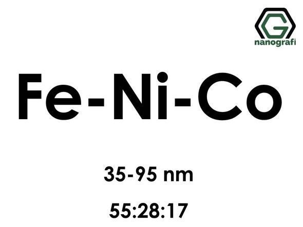 Iron Nickel Cobalt (Fe-Ni-Co) Alloy Nanopowder/Nanoparticles, Size: 35-95 nm, Fe:Ni:Co/55:28:17- NG04EO2801