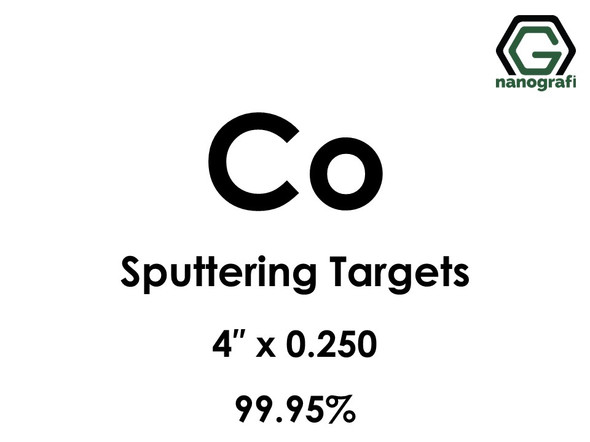 Cobalt (Co) Sputtering Targets, Size:4'' ,Thickness:0.250'' , Purity: 99.95%