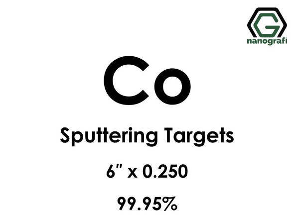 Cobalt (Co) Sputtering Targets, Size:6'' ,Thickness:0.250'' , Purity: 99.95%