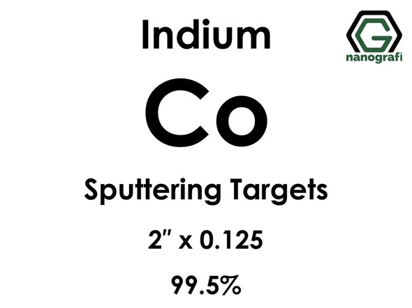 Cobalt (indium)(Co) Sputtering Targets, Size:2'' ,Thickness:0.125'' , Purity: 99.5%