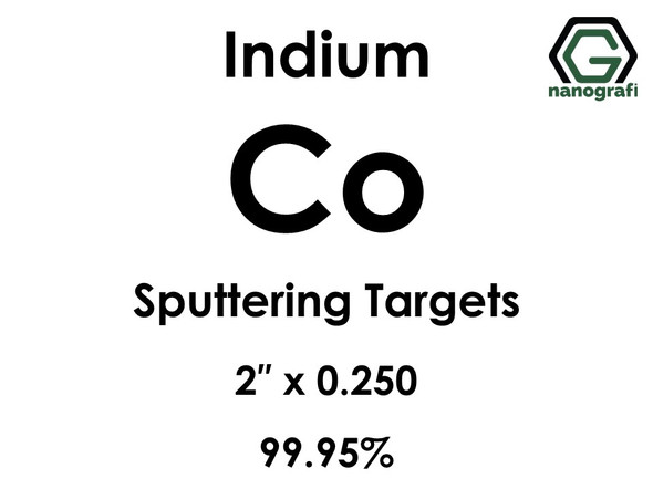 Cobalt (indium)(Co) Sputtering Targets, Size:2'' ,Thickness:0.250'' , Purity: 99.95%