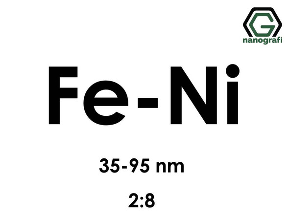 Iron Nickel (Fe-Ni) Alloy Nanopowder/Nanoparticles, Size: 35-95 nm, Fe:Ni/2:8- NG04EO2902