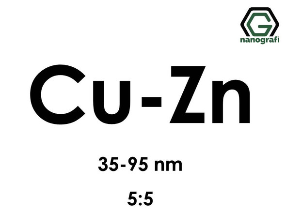 Copper Zinc (Cu-Zn) Alloy Nanopowder/Nanoparticles, Size: 35-95 nm, Cu:Zn/5:5- NG04EO3101