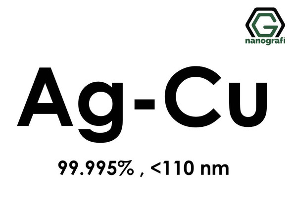 Silver Copper (Ag-Cu) Alloy Nanopowder/Nanoparticles, Purity: 99.995% , Size: < 110 nm- NG04EO3201