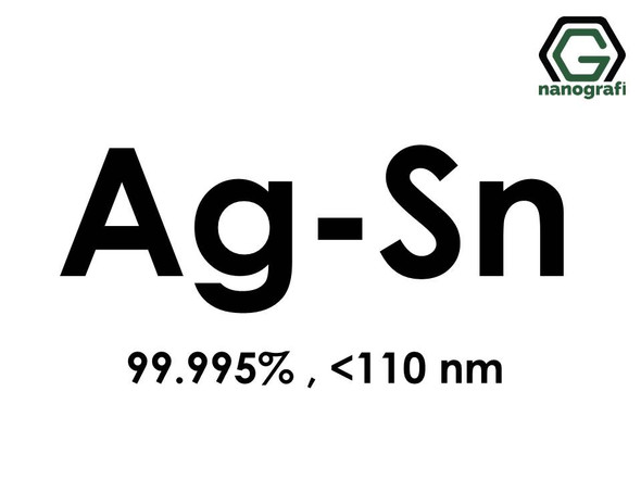 Silver Tin (Ag-Sn) Alloy Nanopowder/Nanoparticles, Purity: 99.995%, Size : < 110 nm- NG04EO3301