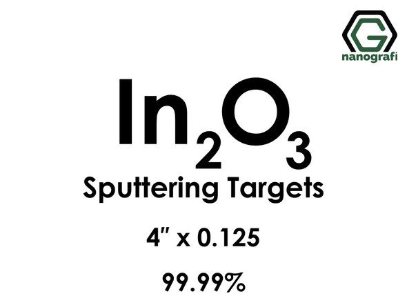 Indium Oxide (In2O3) Sputtering Targets, Size:4'' ,Thickness:0.125'' , Purity: 99.99%