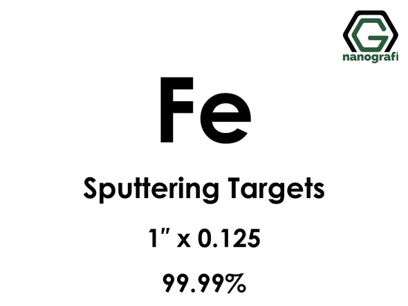 Iron (Fe) Sputtering Targets, Size:1'' ,Thickness:0.125'' , Purity: 99.99%