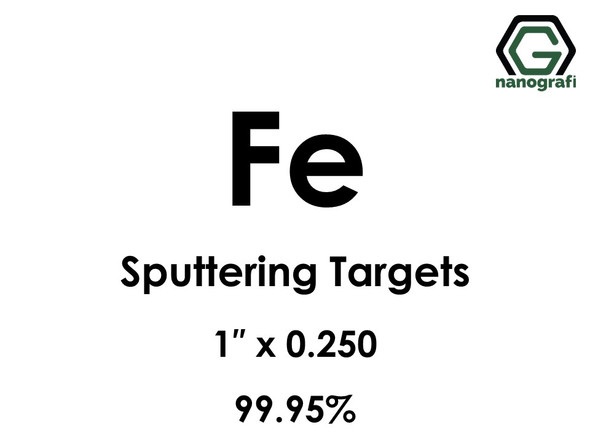 Iron (Fe) Sputtering Targets, Size:1'' ,Thickness:0.250'' , Purity: 99.95%