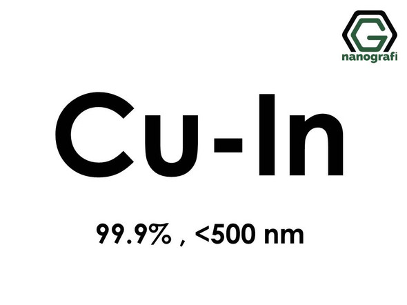 Copper Indium (Cu-In) Alloy Nanopowder/Nanoparticles, Purity: 99.9% , Size: < 500 nm - NG04EO3901