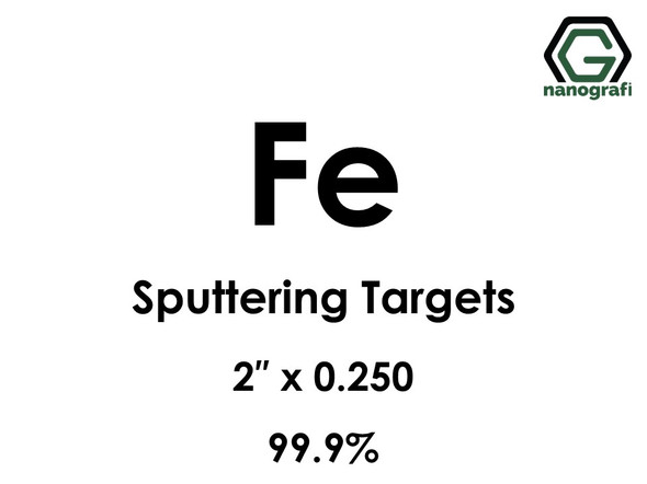 Iron (Fe) Sputtering Targets, Size:2'' ,Thickness:0.250'' , Purity: 99.9%