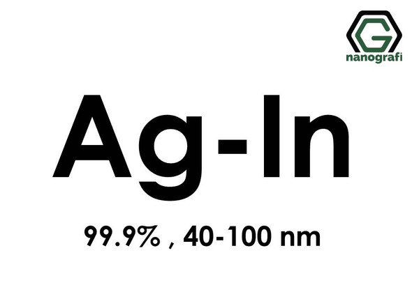 Silver Indium (Ag-In) Alloy Nanopowder/Nanoparticles, Purity: 99.9%, Size: 40-100 nm- NG04EO4001