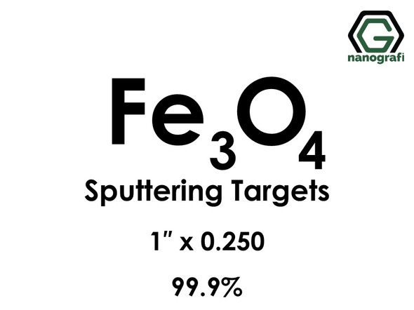 Iron Oxide (Fe3o4) Sputtering Targets, Size:1'' ,Thickness:0.250'' , Purity: 99.9%